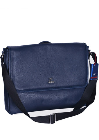 "NAVY  ""LONDON"" MESSENGER BAG"