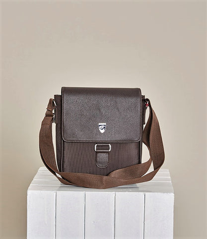 "BROWN ""SPIGA"" CROSSBODY BAG"