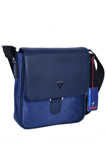 "NAVY ""SPIGA"" CROSSBODY BAG"