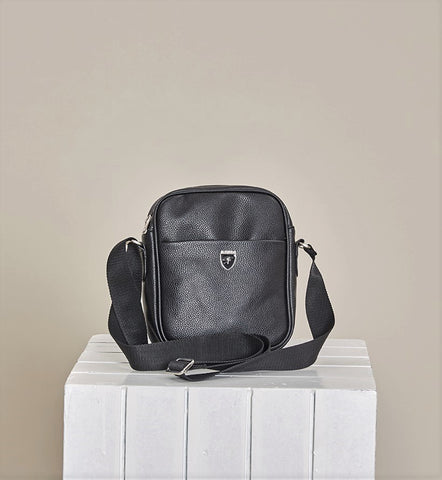 "BLACK ""VENEZIA"" CROSSBODY BAG"