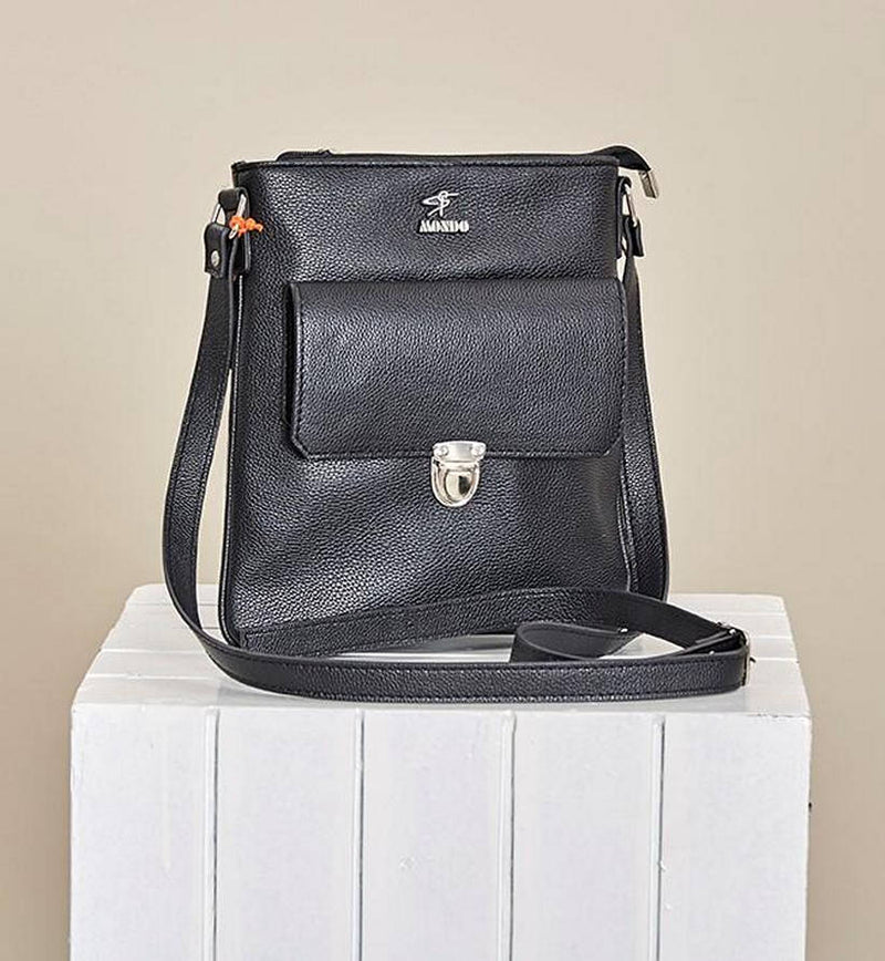 "Black ""Milano"" Crossbody Bag"