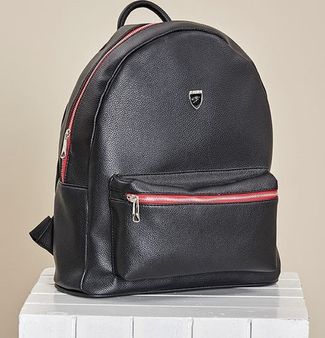 "BLACK ""VITTORIO"" RED ZIPPER BACKPACK"