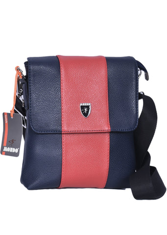 "NAVY RED ""NAPOLEONE"" CROSSBODY BAG"