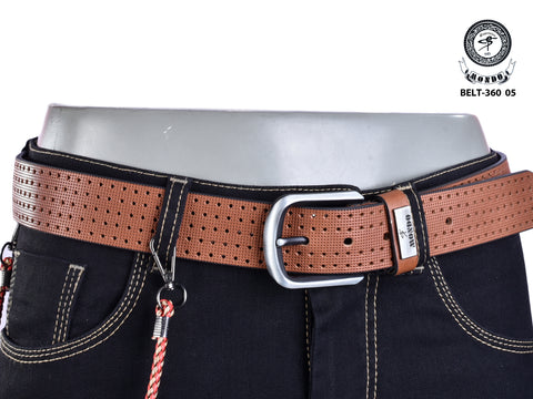 Brown Perforated Leather Belt