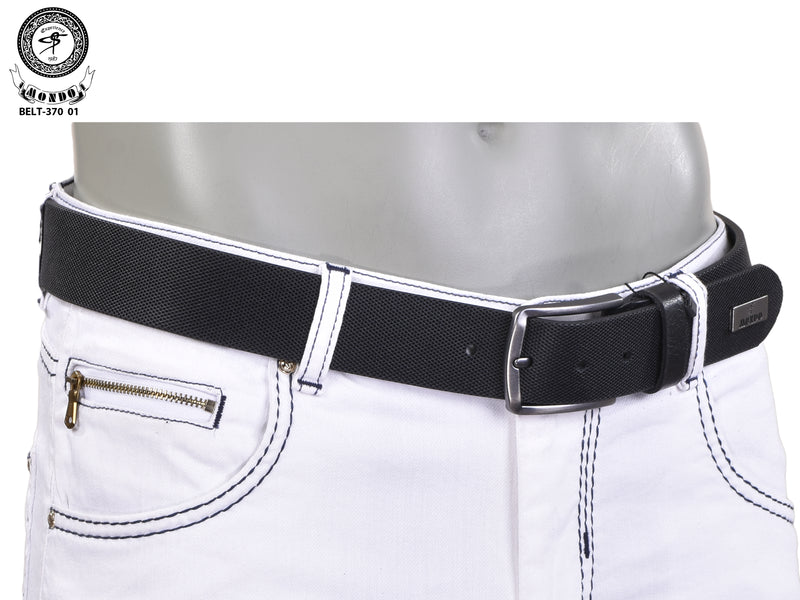 Black Saffiano Leather Belt