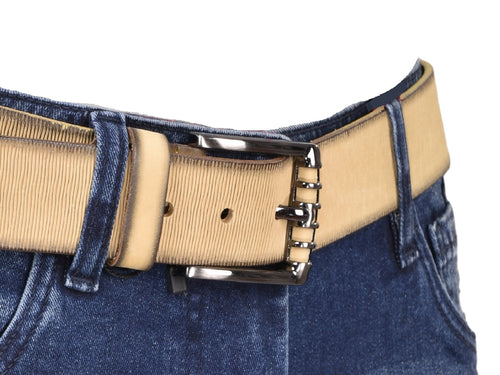 Light Textured Leather Belt