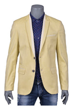 Yellow Casual Blazer