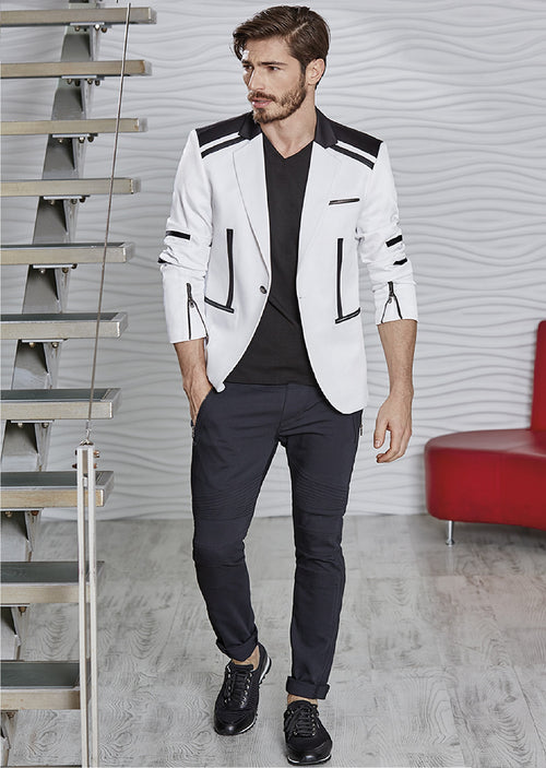 "Black & White ""Antioco"" Blazer"