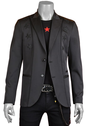 Black Star Embroidered Blazer