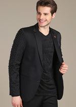 "Black Sleeve Studded ""Armando"" Blazer"