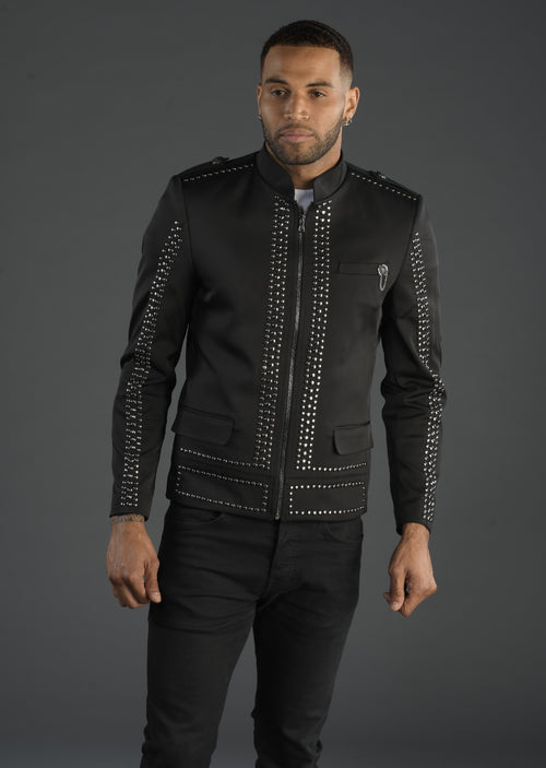"Black Silver ""Limited Edition"" Studded Jacket"