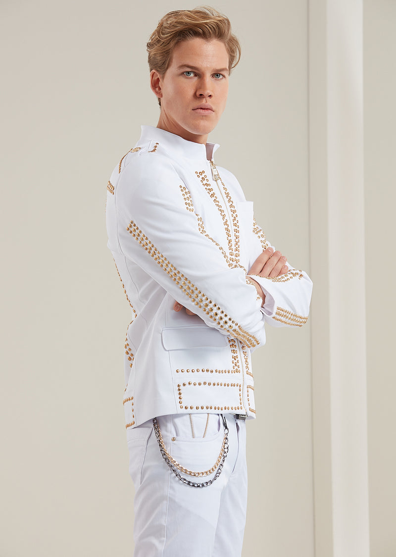 "White Gold ""Limited Edition"" Studded Jacket"