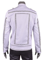 "White Silver ""Limited Edition"" Studded Jacket"
