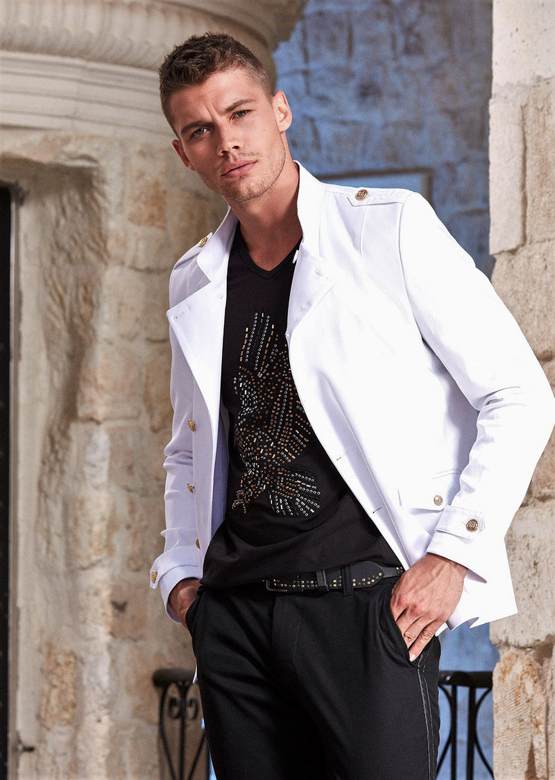 White Double Breast Deluxe Jacket