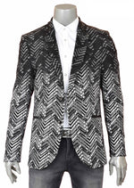 Black Enzo Degraded Knit Blazer
