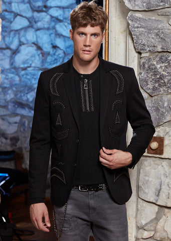 Black Limited Edition Gennaro Studded Blazer