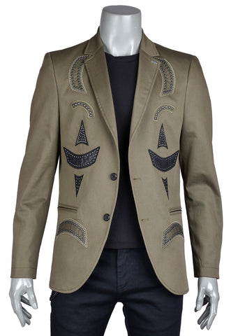 Green Limited Edition Gennaro Studded Blazer