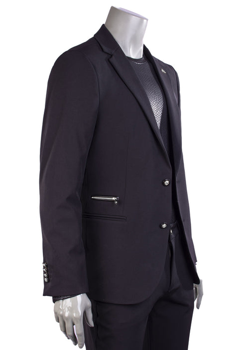 Black Neoteric Slim-Fit Blazer