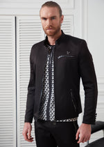 Black Tech Studded Jacket