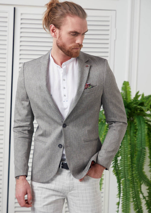 Light Gray Linen Blazer