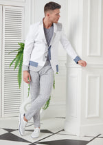 White Linen Sport 2-Pieces Suit