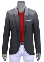 Black Degraded Luxe Comfort Knit Blazer