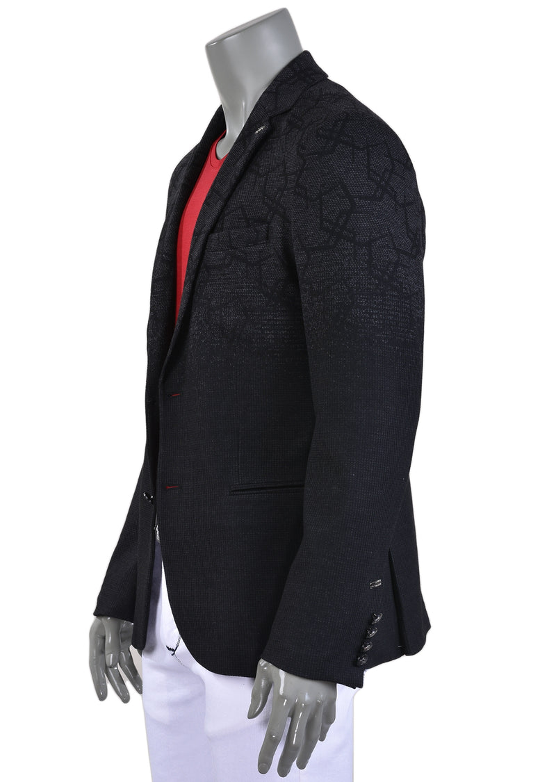 Black Gray Luxe Comfort Knit Blazer