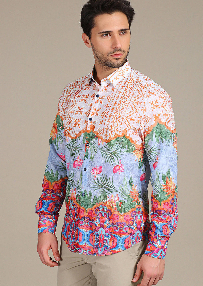 "Multi-color ""Florentino"" Long Sleeve Shirt"
