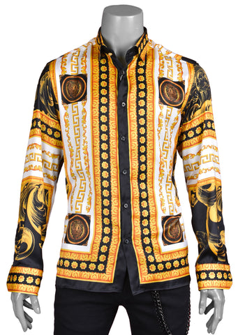"Gold Venezia ""Limited Edition"" Silky Long Sleeve Shirt"