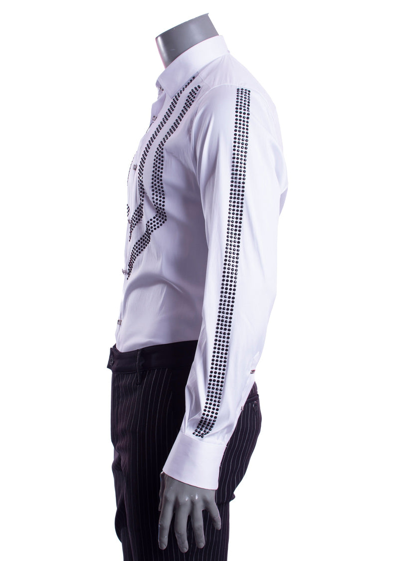 "White Rhinestone ""Limited Edition"" Long Sleeve Shirt"