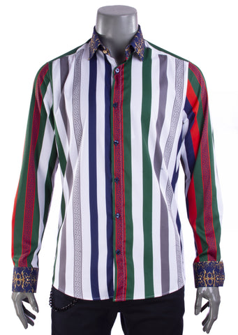 "Key Pattern ""Limited Edition"" Silky Long Sleeve Shirt"