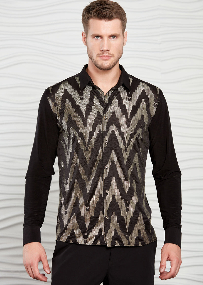 Black Gold Textured Exclusive Shirt
