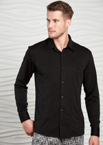 Black Comfort Luxe Detailed Shirt