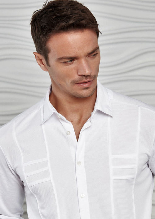 White Comfort Luxe Detailed Shirt