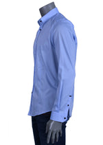"Blue ""Snap Closure"" Long Sleeve Shirt"