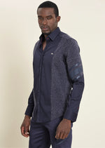 "Navy ""Roberto"" Long Sleeve Shirt"