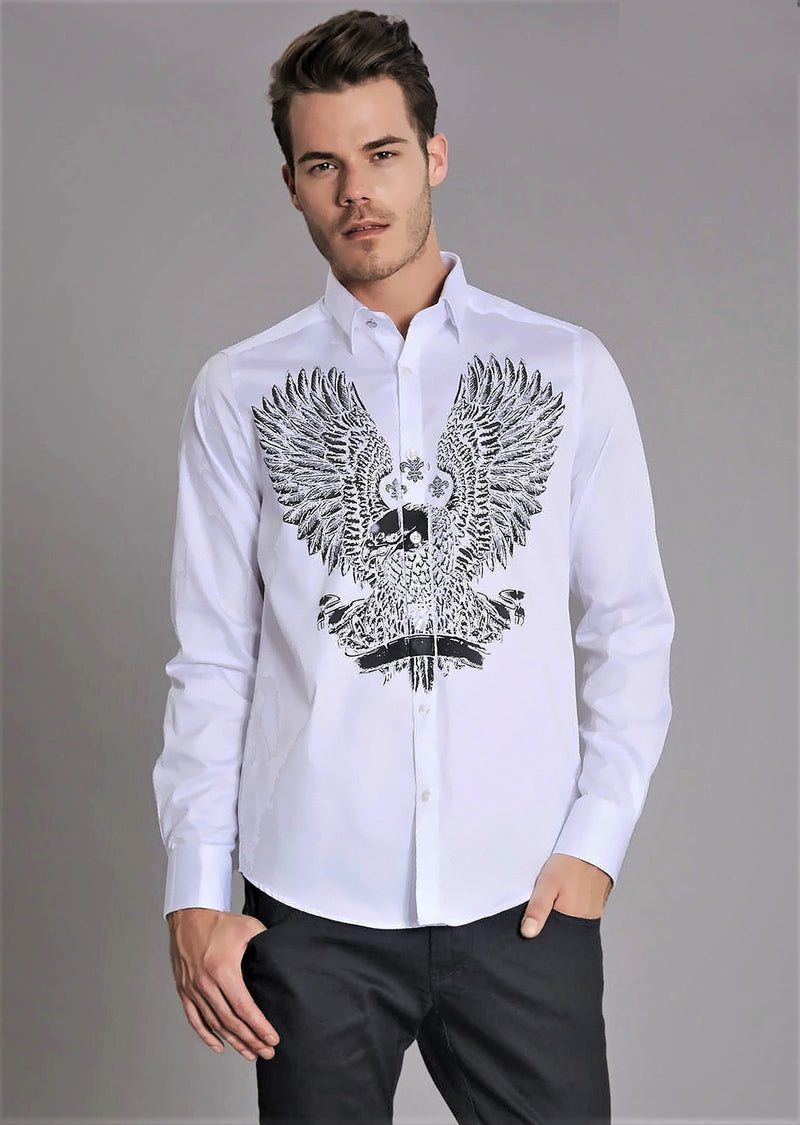 White Angel Wings Long Sleeve Shirt