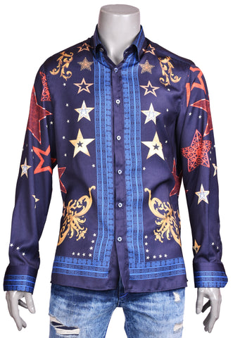 "Navy Star ""Limited Edition"" Silky Long Sleeve Shirt"