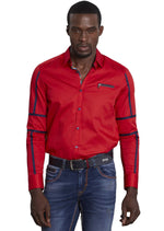 Red Navy Contrast Edge Shirt