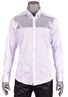 "White Silver ""Aristide"" Long Sleeve Shirt"