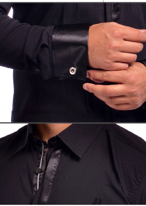 Black Dressy Long Sleeve Shirt
