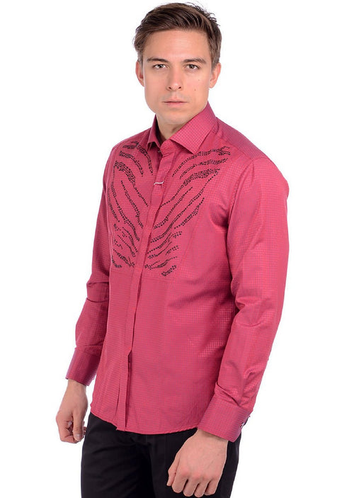 Burgundy York Rhinestone Shirt