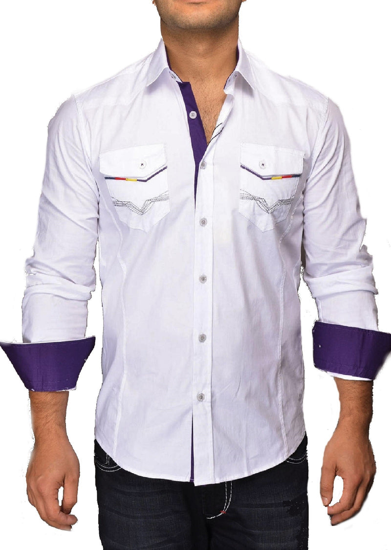 White Casual Double Pocket Shirt