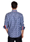 Blue Jacquard Long Sleeve Shirt