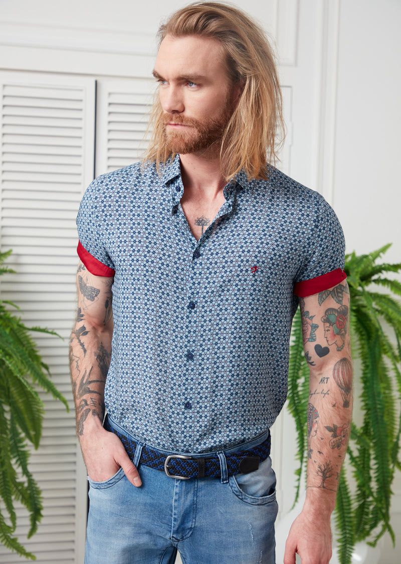 Blue Spark Bamboo Short Sleeve Shirt