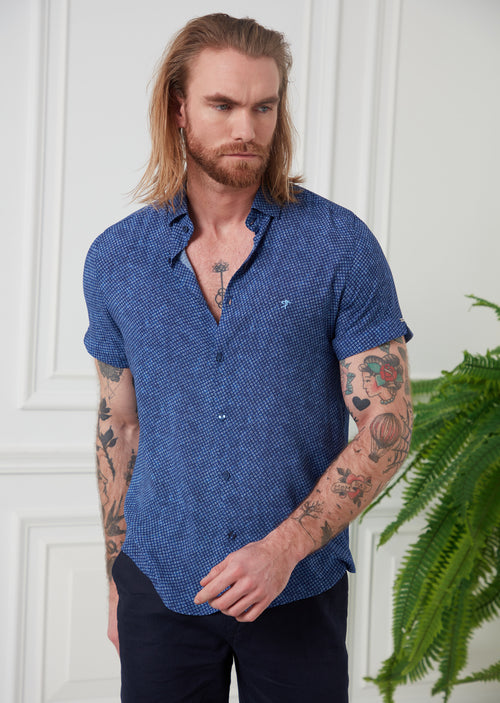 Blue Diamond Bamboo Short Sleeve Shirt