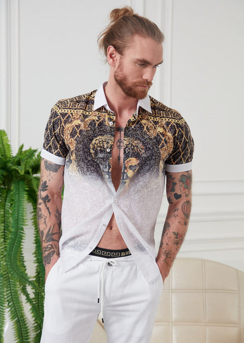 White Gold Alexander Devoré Shirt