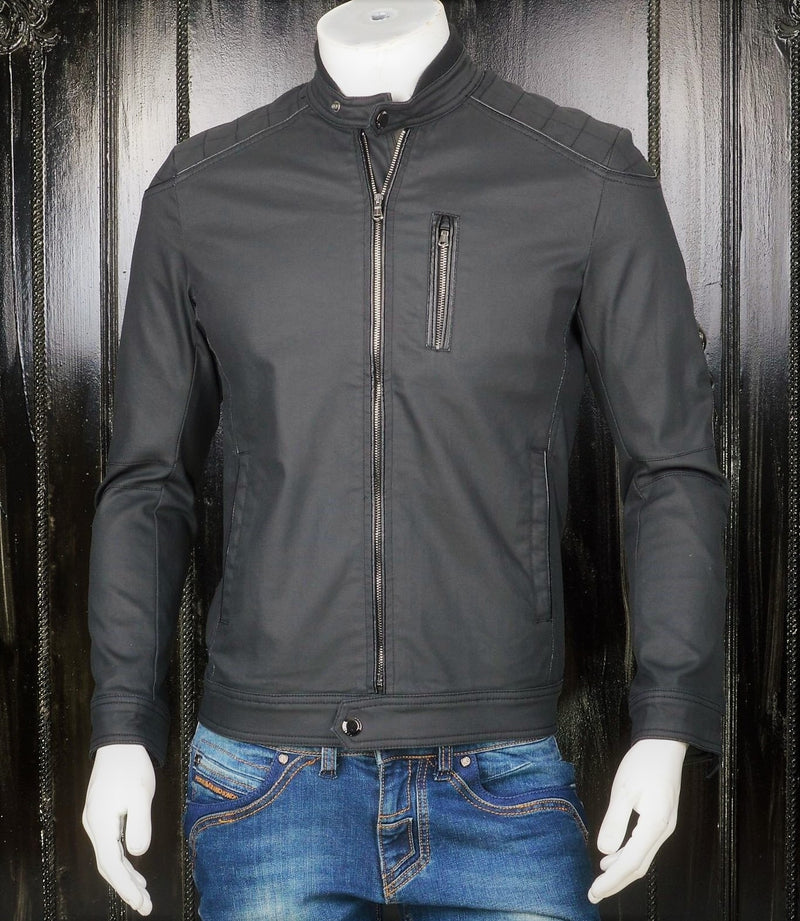 Black Waxed Biker Jacket