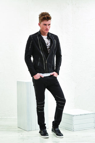 BLACK SPORT ZIPPER JACKET