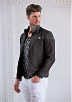 BLACK QUILTED MOTO JACKET